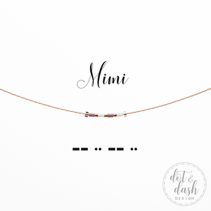 Dot & Dash- Morse Code Necklace