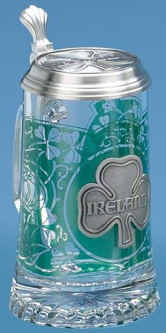 Ireland Glass Stein With Lid