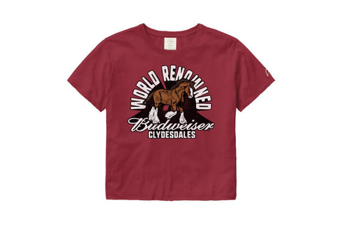 Budweiser Ladies Clydesdale World Renowned Crop Tee
