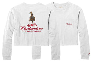 Budweiser Ladies Clydesdale Long Sleeve Midi Crop Tee