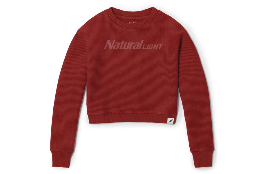 Natural Light Ladies Crop Crew