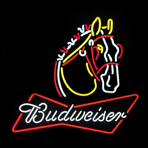 Budweiser Clydesdale Neon