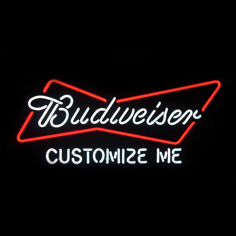 Customized Budweiser Bowtie Neon