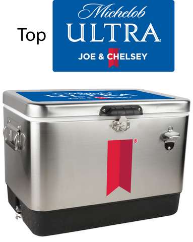 Michelob Ultra Stainless Steel Personalized 54 qt Cooler