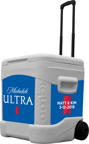 Michelob Ultra Personalized 60 qt Rolling Cooler