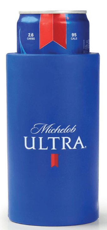 Michelob Ultra Golf Can Coolie made of foam rubber Neoprene. This fits the Mich Ultra 12oz Slim Can
