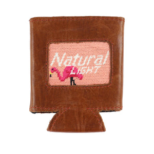 Smathers & Branson Natural Light Flamingo Can Coolie