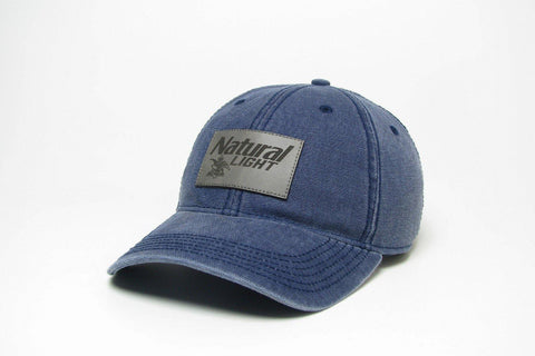 Natural Light Leather Patch Hat