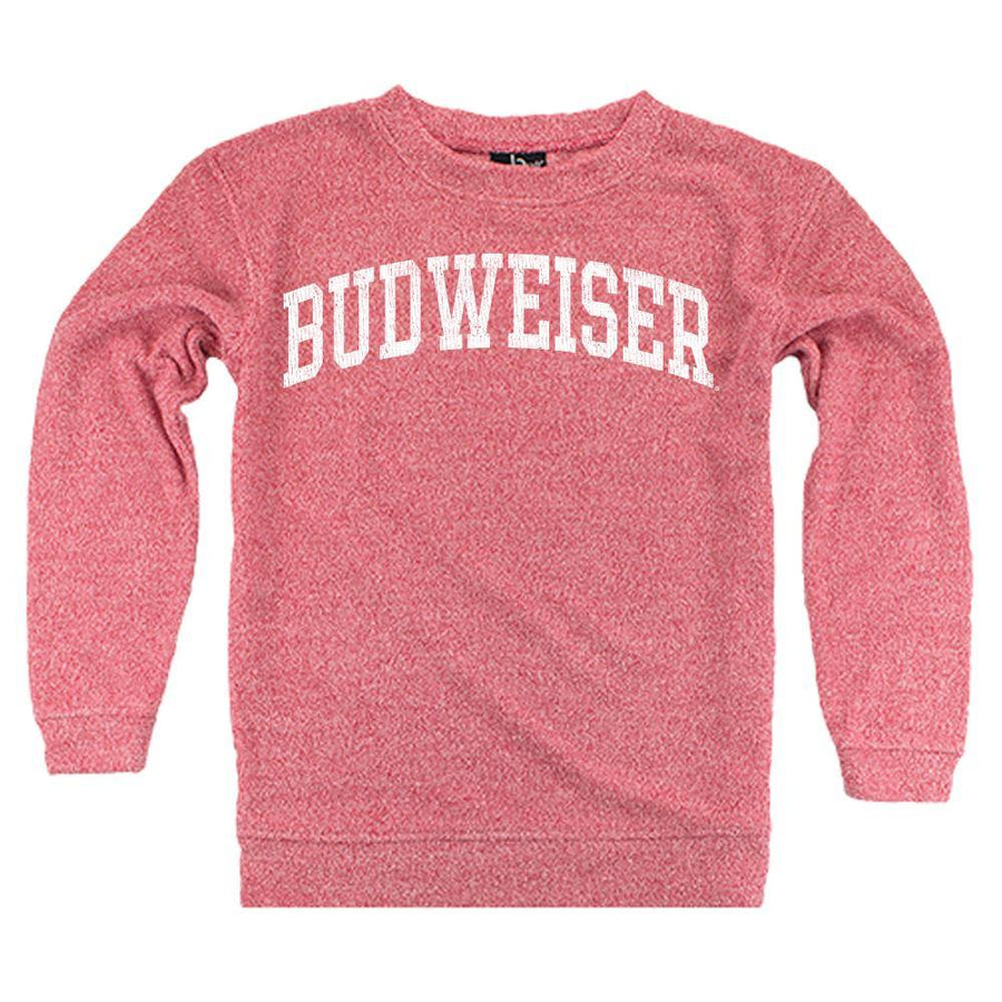 Budweiser Ladies Cozy Crew- Red