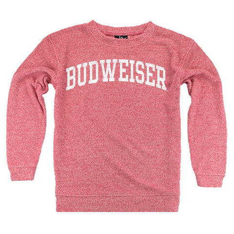 Ladies Budweiser Cozy Crew- Red