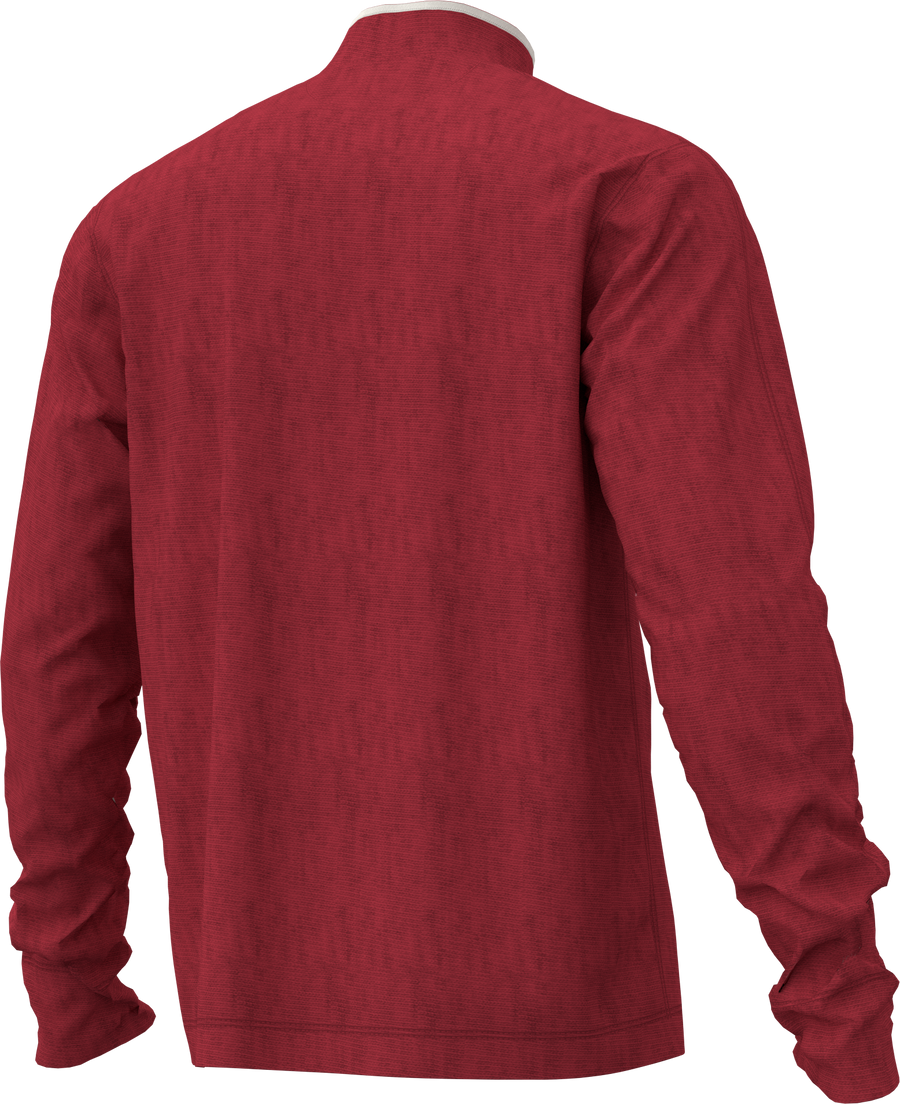 A & Eagle 1/4 Zip Sweatshirt- Red