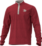 A&E 1/4 Zip Sweatshirt- Red