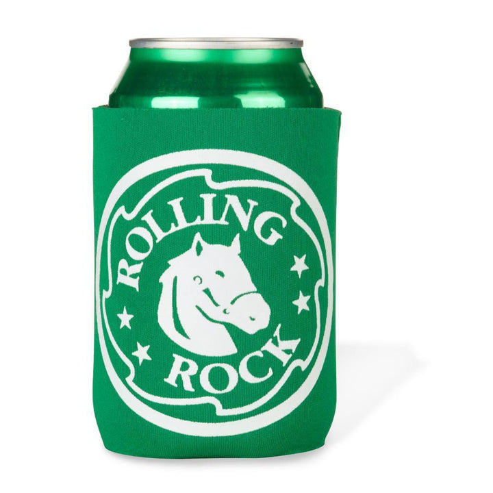 Signature Green Rolling Rock coolie with the Horse head logo