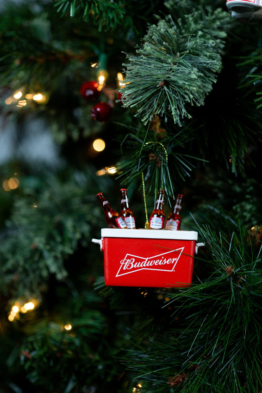 Budweiser Bottles in Cooler Ornament