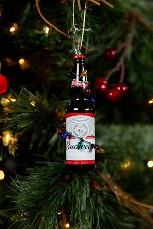 Budweiser Bottle With Lights Ornament