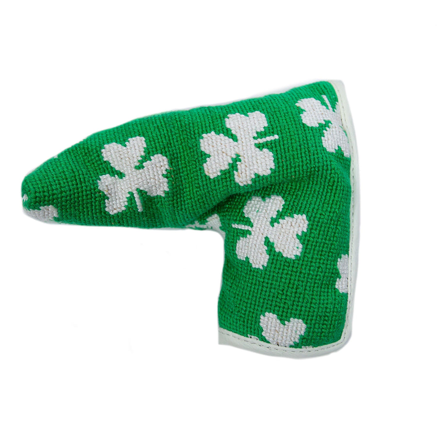From Smathers & Branson a green with white shamrock head cover for your putter.