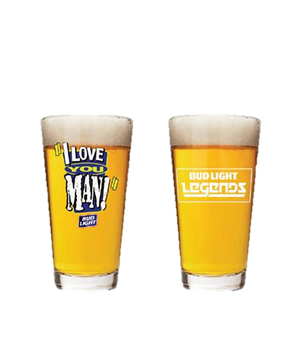 "Bud Light Legends ""I Love You Man!"" Glass"