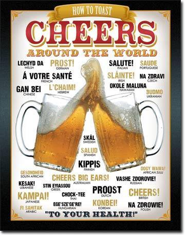 How to Toast Cheers Beer Metal Sign
