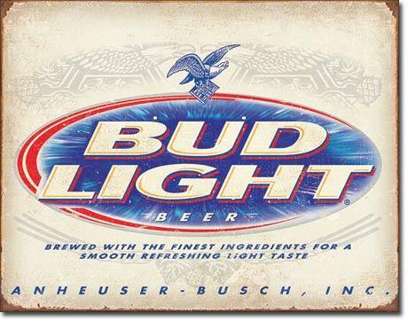 Bud Light Retro Refreshed Metal Sign