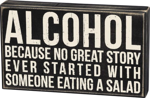 Alcohol - Box Sign
