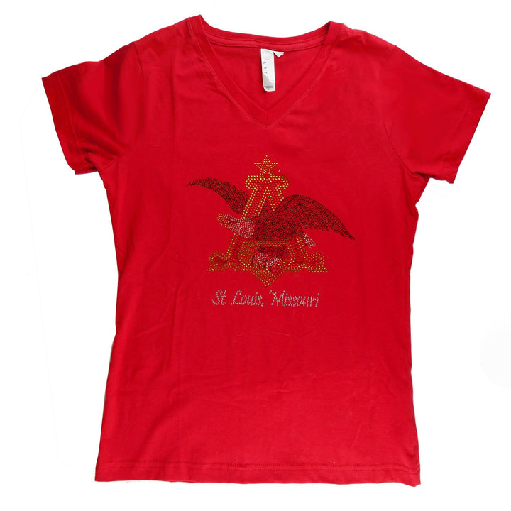 anheuser_busch_ladies_v_neck_a_and_eagle_bling_shirt