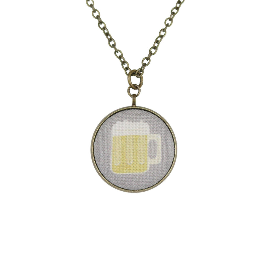 anheuser busch beer glass necklace