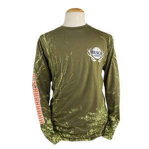 Busch Light Antler Logo Long Sleeve Tee