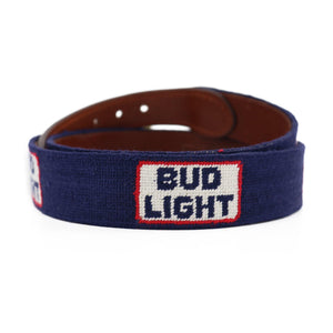 Smathers & Branson Bud Light Retro Logo Needlepoint Belt