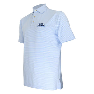 Bud Light Peter Millar® Hales Stripe Stretch Jersey Polo