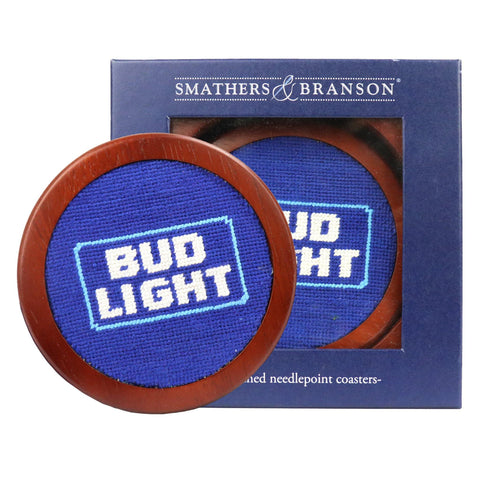 Smathers & Branson Bud Light Logo Needlepoint Coaster