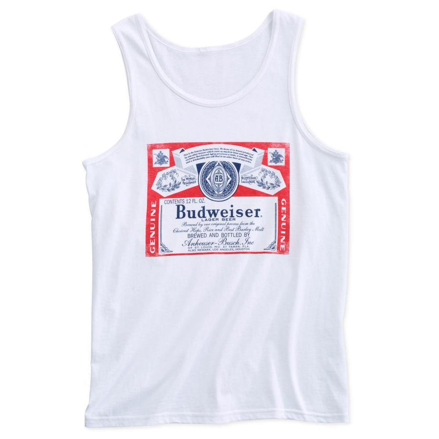 Budweiser Label Mens Tank