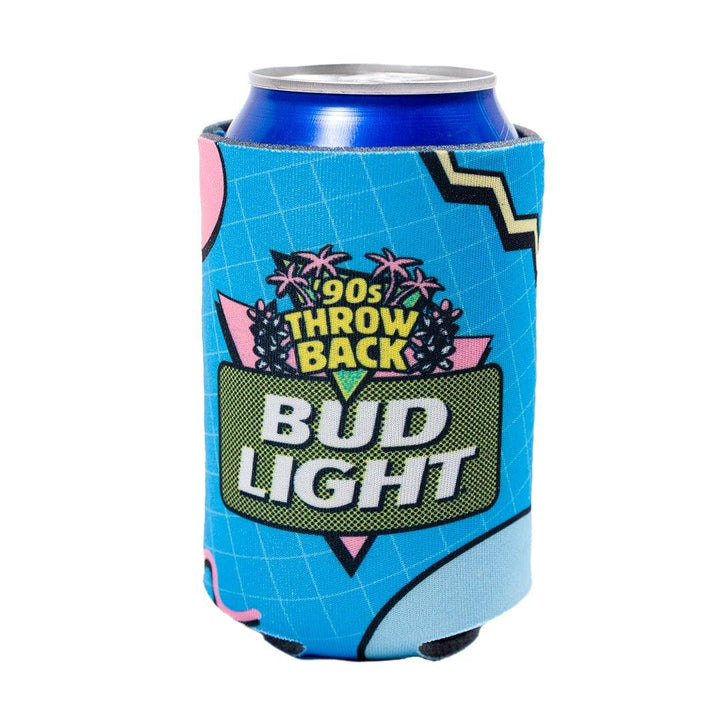 Bud Light 90s Retro Coolie with 90's Throw back design and logo on front.