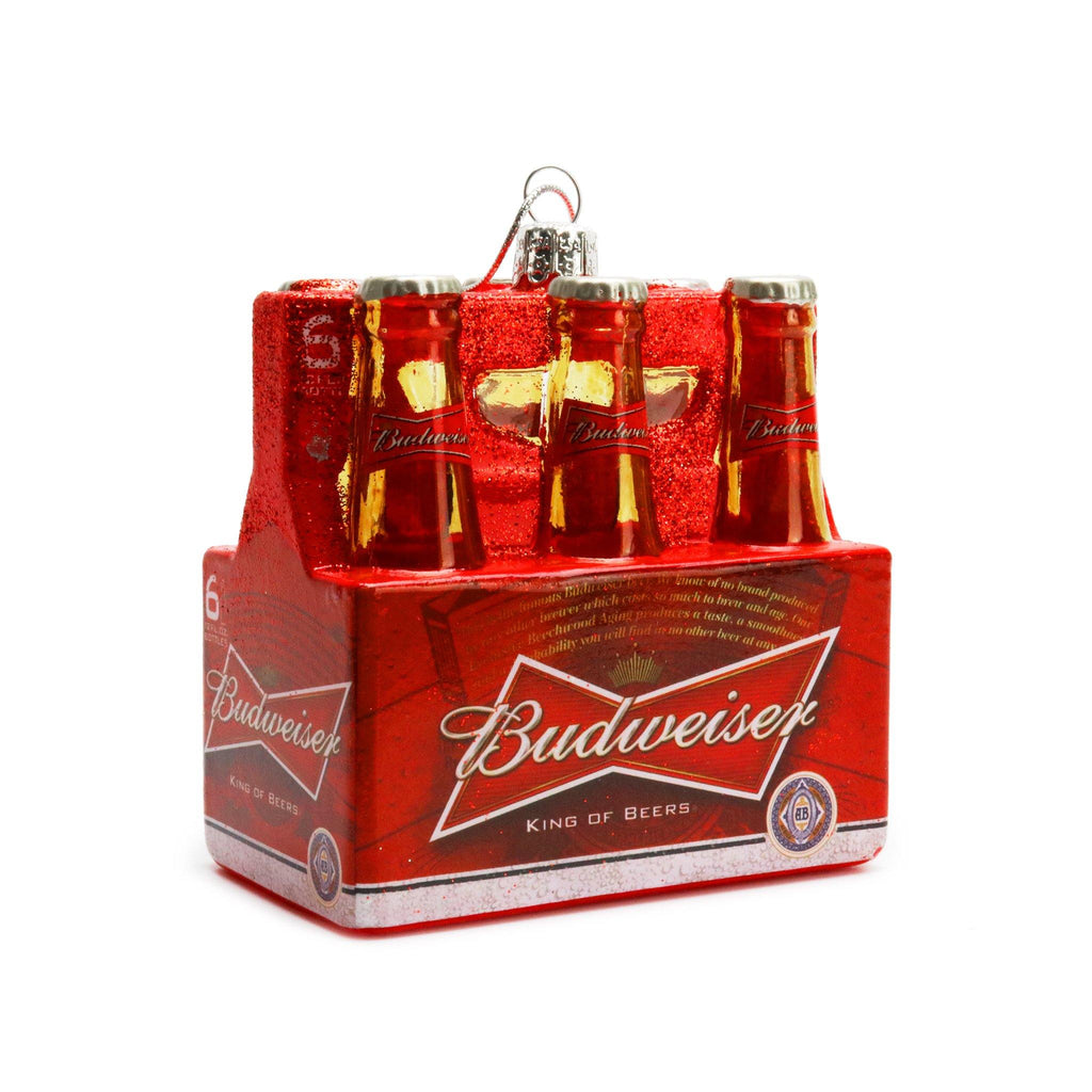 Budweiser Glass 6PK Ornament