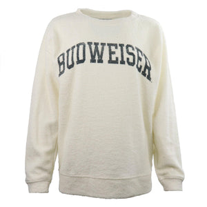 Budweiser Ladies Cozy Crew- Cream