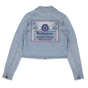 Oliver Logan Budweiser Ladies Label Back Denim Jacket