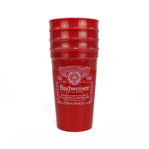 Budweiser 4 Pack Reusable Cup