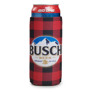 Busch Plaid Can Coolie