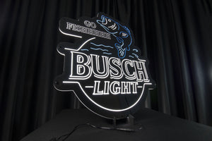 Busch Light Fishing LED Neon Sign