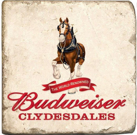 Budweiser Clydesdale Logo Stone Coaster
