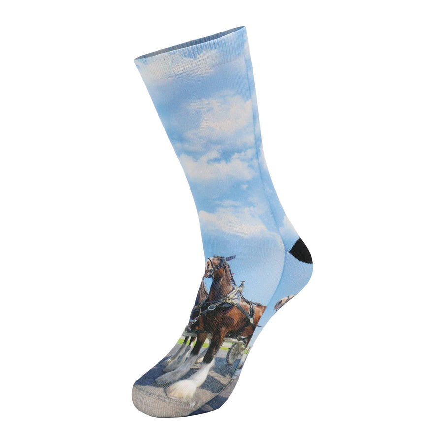 Clydesdale Blue Sky Crew Socks