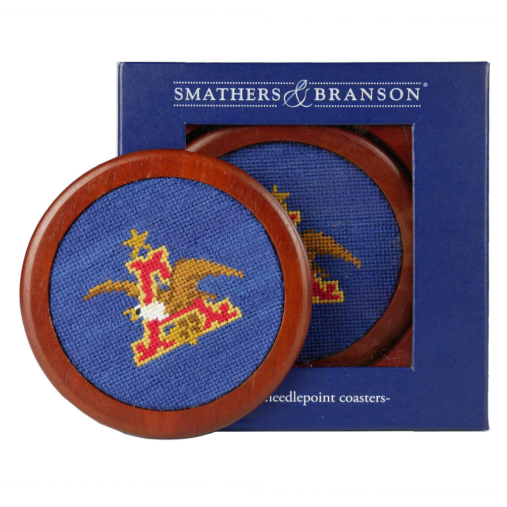 Smathers and Branson Anheuser-Busch Logo Needlepoint Coaster