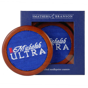 Smathers & Branson Michelob Ultra Needlepoint Coaster Set