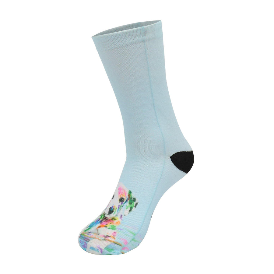 Dalmatian Paint Crew Socks
