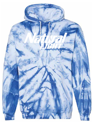 Natural Light Tie Dye Hoodie