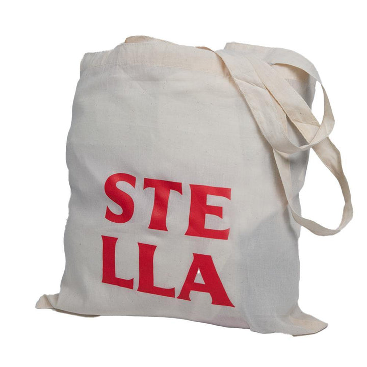 cream stella artois small tote