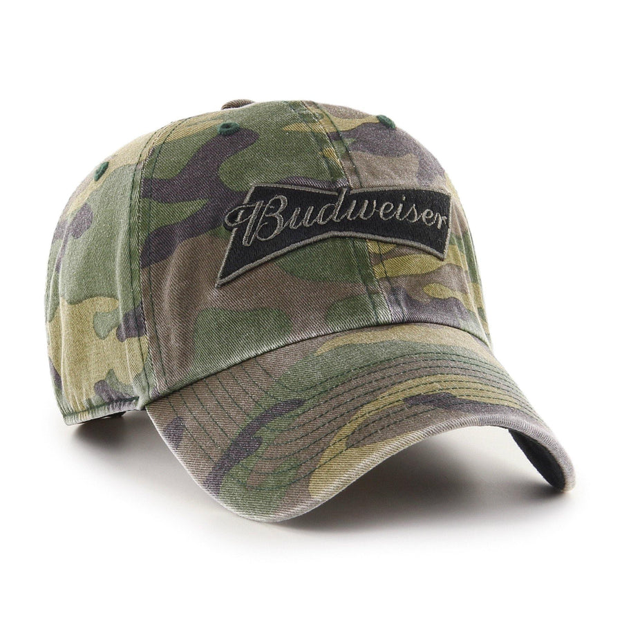 Budweiser '47 Brand Camo Garment Washed Hat