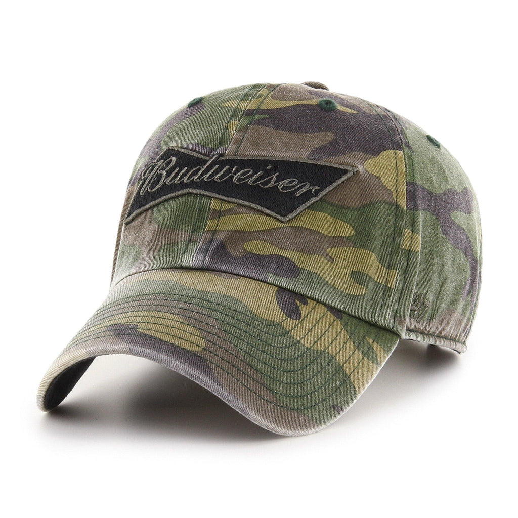 Budweiser '47 Camo Garment Washed Hat