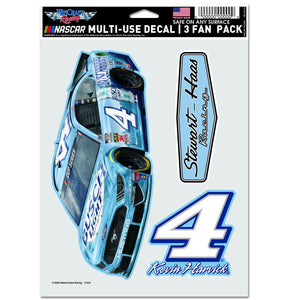 "Kevin Harvick Multi Use Decal - 3 Fan Pack 5.5""x 7.75"""