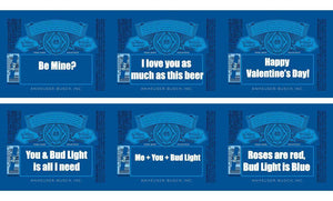 Bud Light Personalized Beer Bottle Label