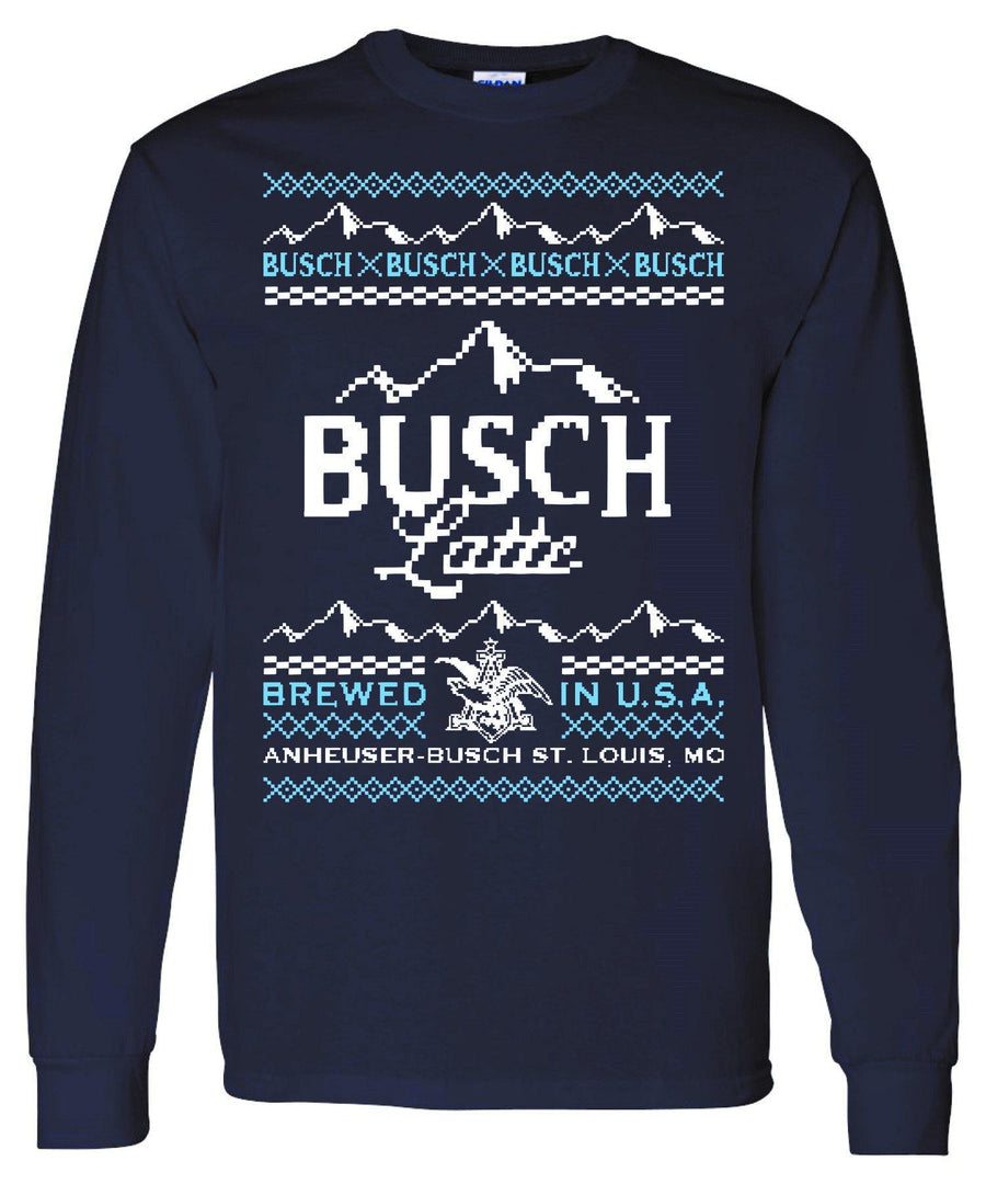Busch Latte Ugly Sweater Long Sleeve Tee